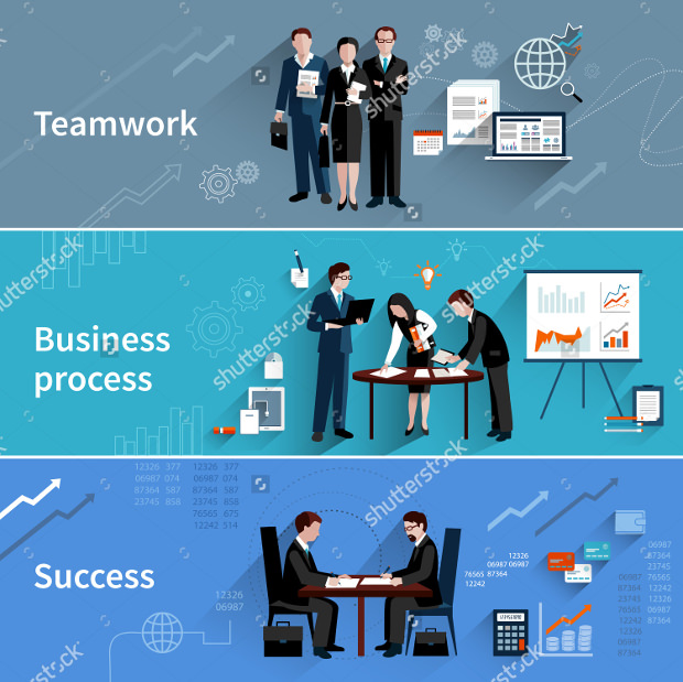 Teamwork Business banners Tempaltes Download
