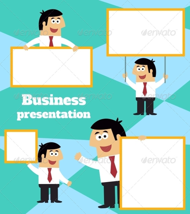 Businessman Prasentation Banner Templates