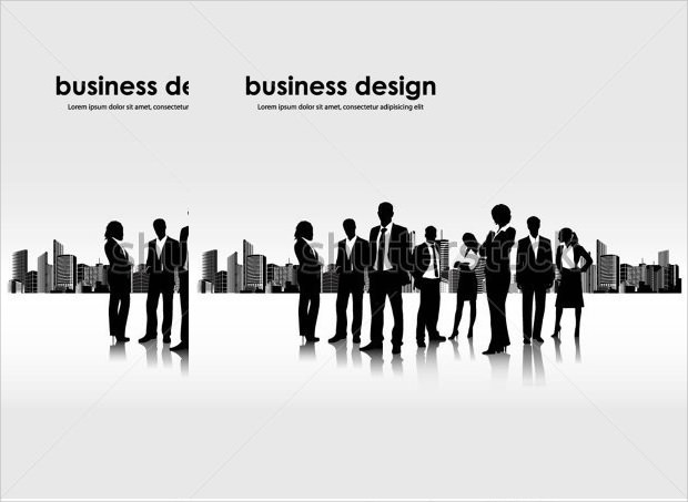 Business People Banner With City Landscape