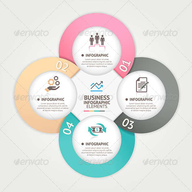 Modern Business Circle Banner Tamplates