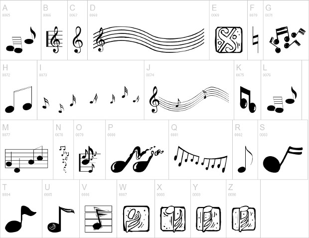 music element fonts