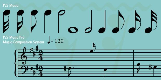 P22 MusicPro Fonts