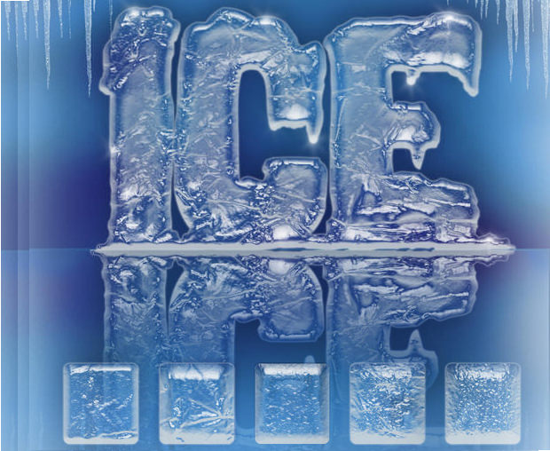 3D Ice Effect Photoshop Brushes