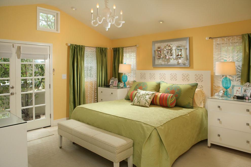 elegant yellow bedroom design