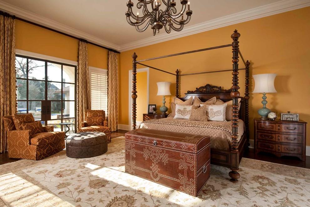 mediterranean yellow bedroom design