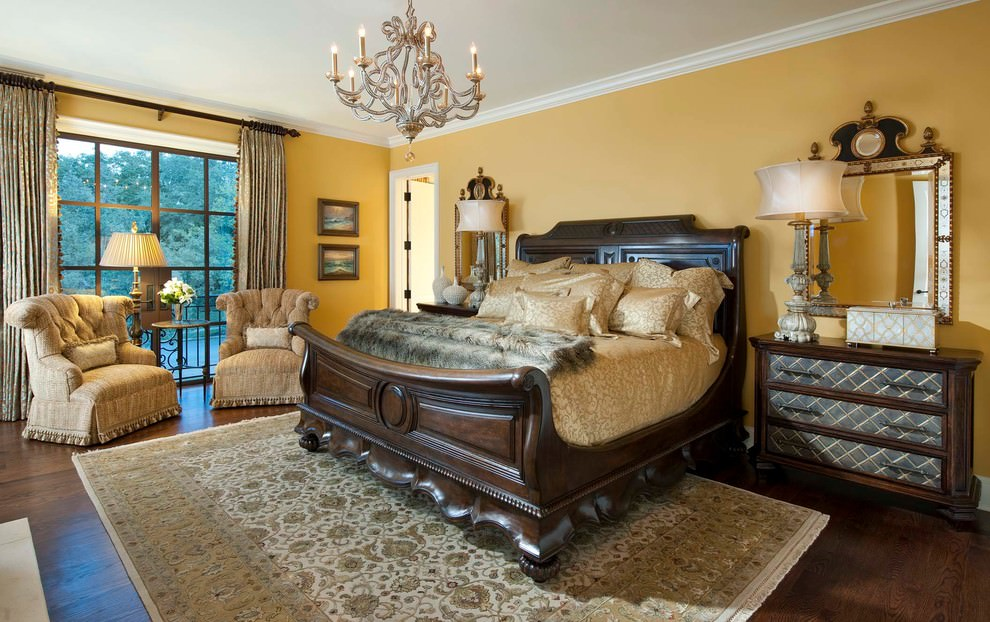 royal yellow bedroom design