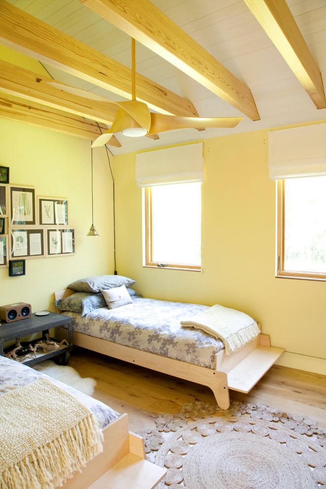 trendy yellow bedroom design