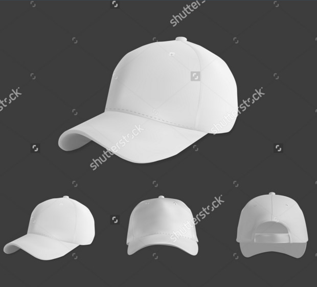 sports cap mock up illustration