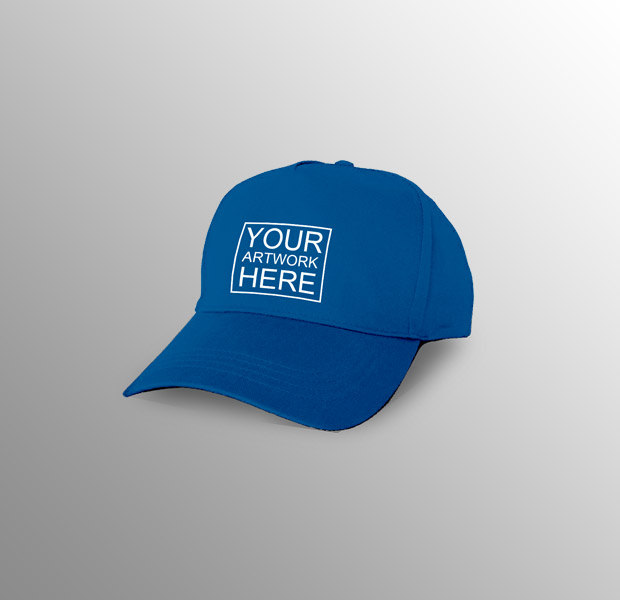 simple blue color cap logo