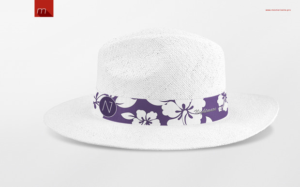amazing panama hat mock up
