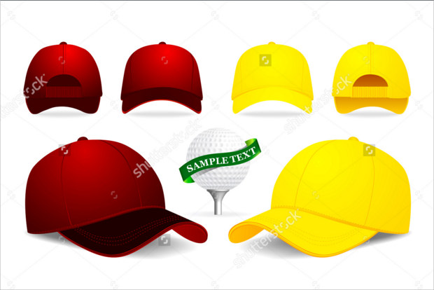 golf cap mockup illustration 1