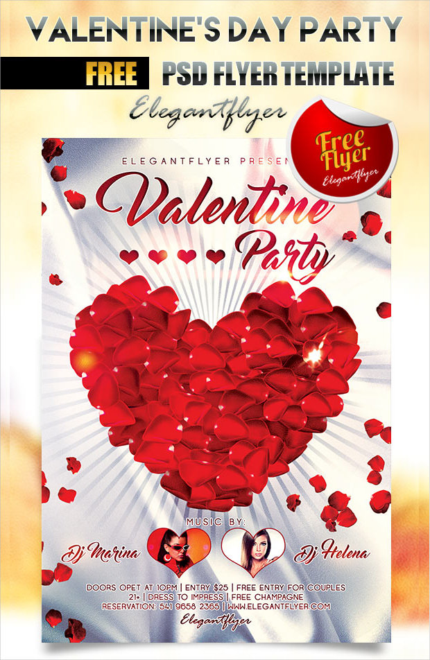 Valentines Day Party Flyer Free Download