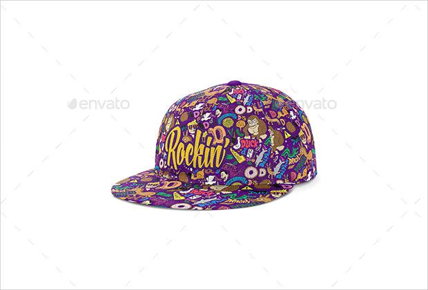 Cool Funky Cap Mockup