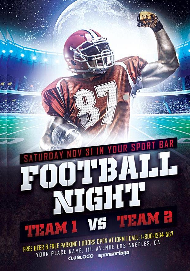 Free Footballnight Flyer Template