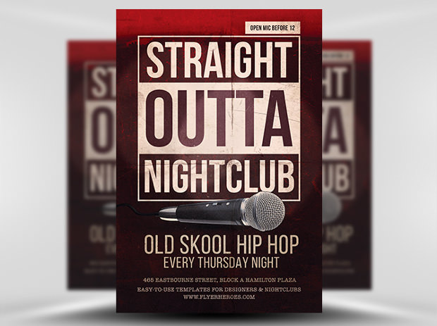 Free Old School Hiphop Flyer Template
