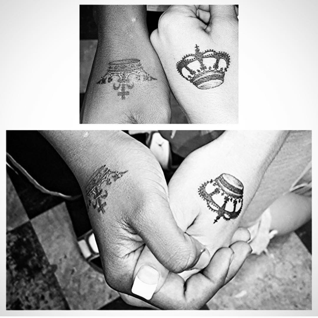 Hand Tattoo Design For Couple