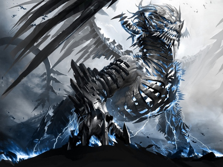 Mechanical Dragon Illustration