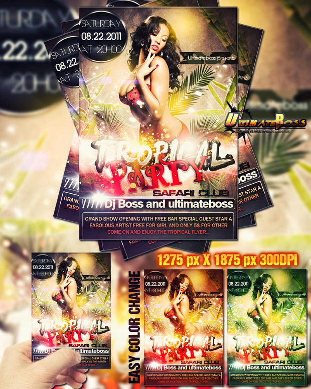 Free Safariclub Flyer Template