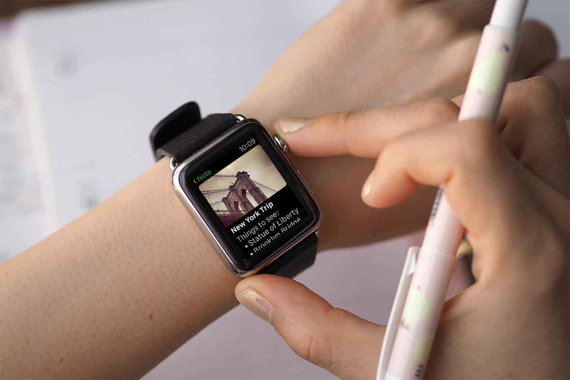 Classic Black Apple Watch Mockup