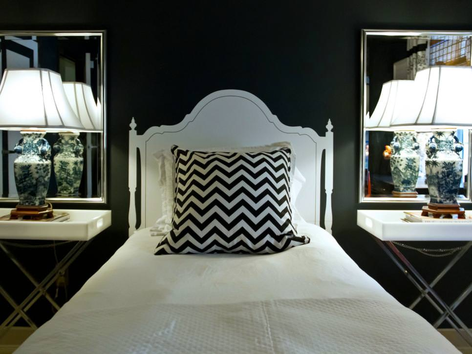 contemporary black and white bedroom design