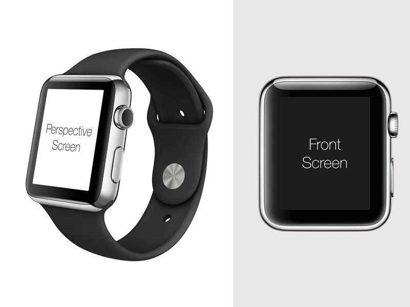 apple watch perspective mockup