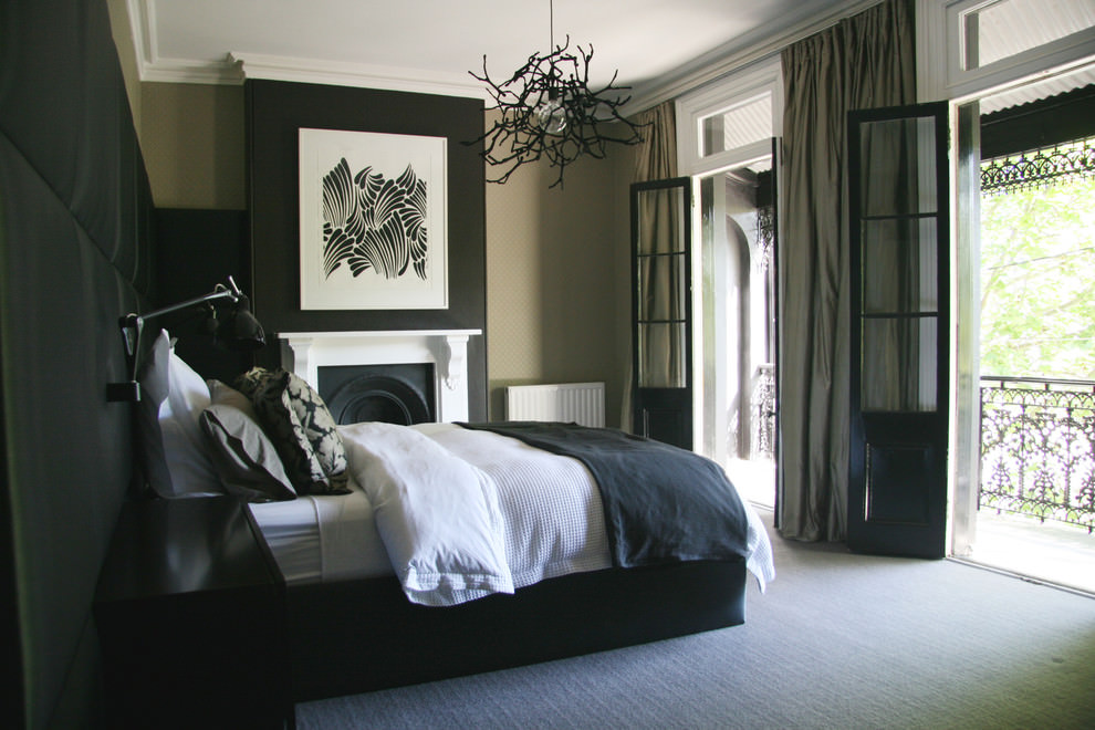 awesome black contemporary bedroom design