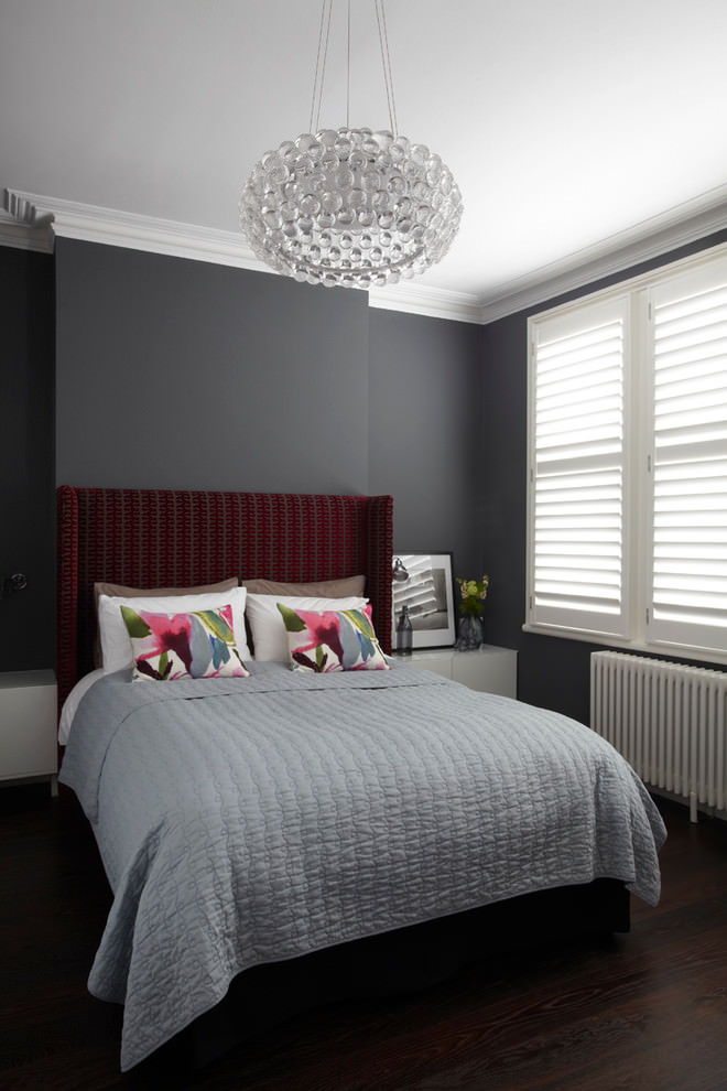 contemporary black bedroom design