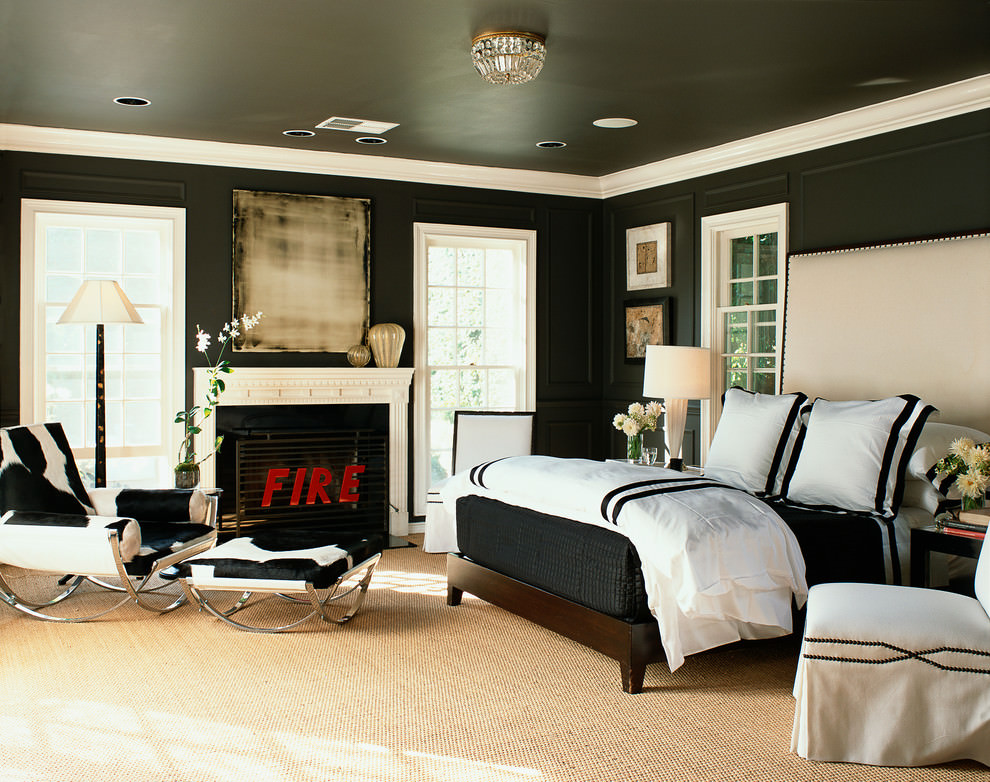ravishing black bedroom design