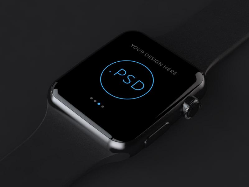 Black Apple Watch Mockup