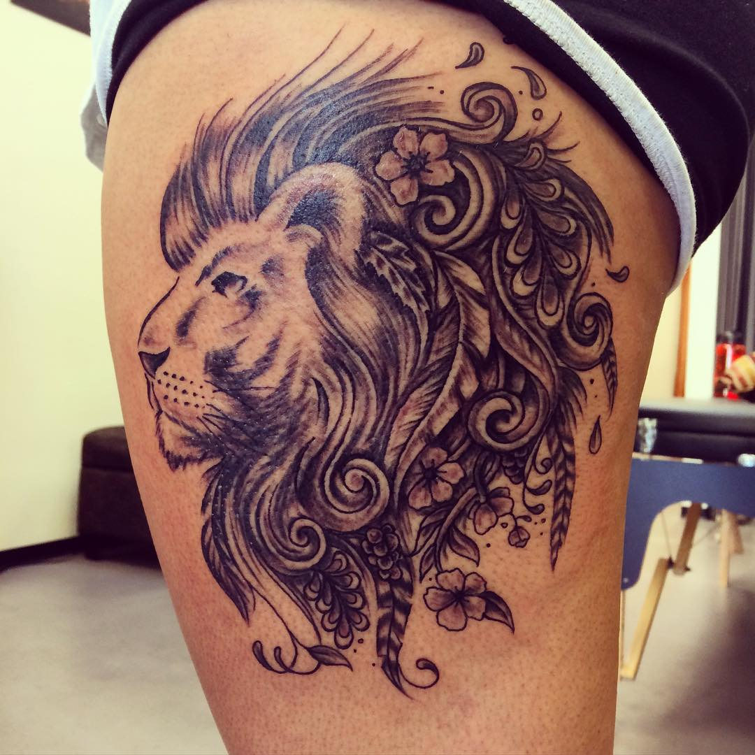 Designed Leo Tattoo Design