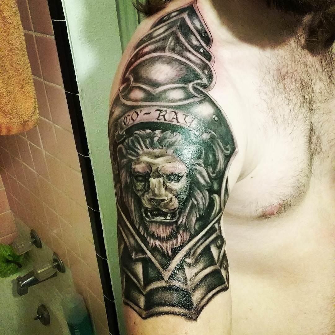 Arm Leo Tattoo Design