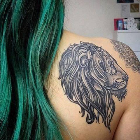 Chicago Leo Tattoo Design