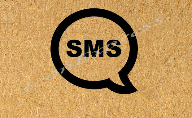 SMS Text Icon Graphic Vector