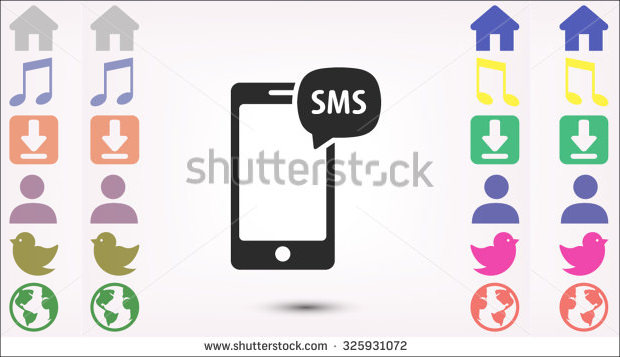 phone SMS vector icon