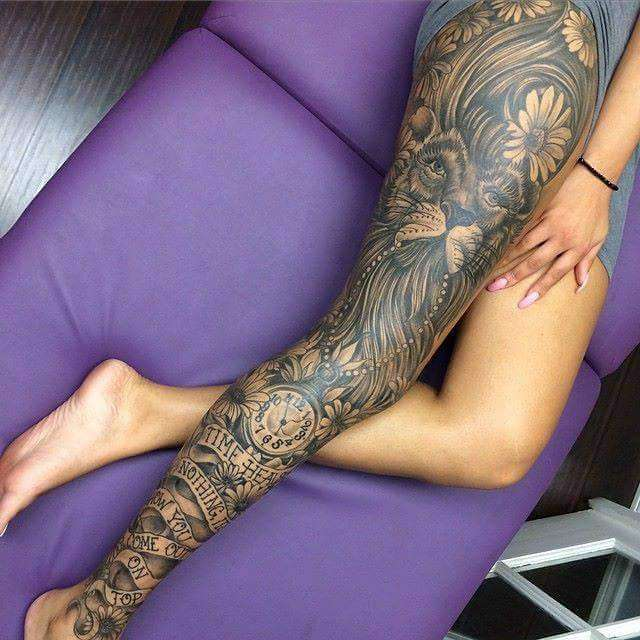 Leg Tattoo Design