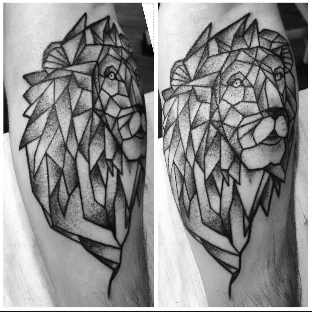 Black Leo Tattoo