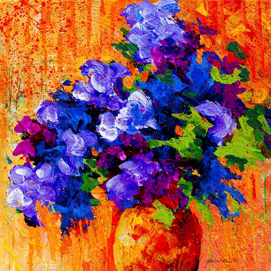 abstract boquet roses painting