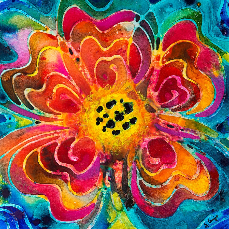 Colorful Flowers Summer Lover Painting