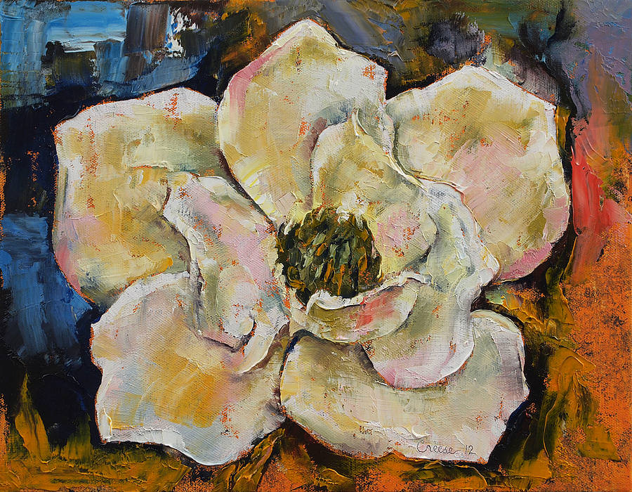 Magnolia Flower Oil Painting
