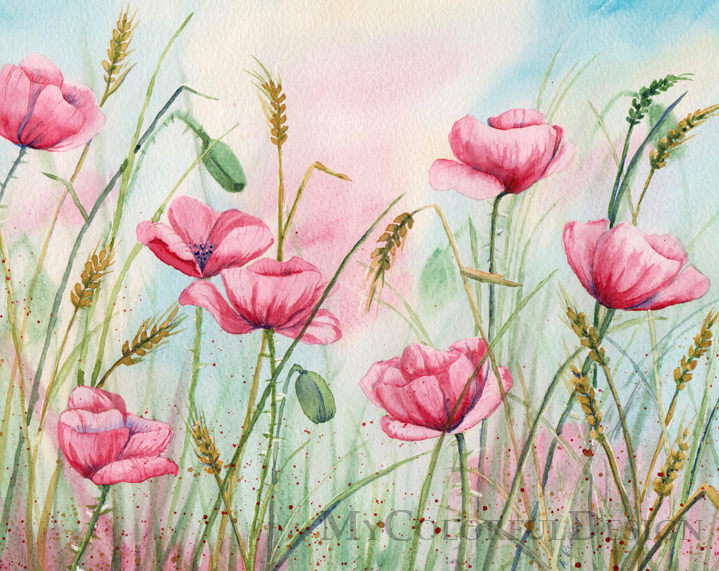 Poppy Flowers Crazy Painting