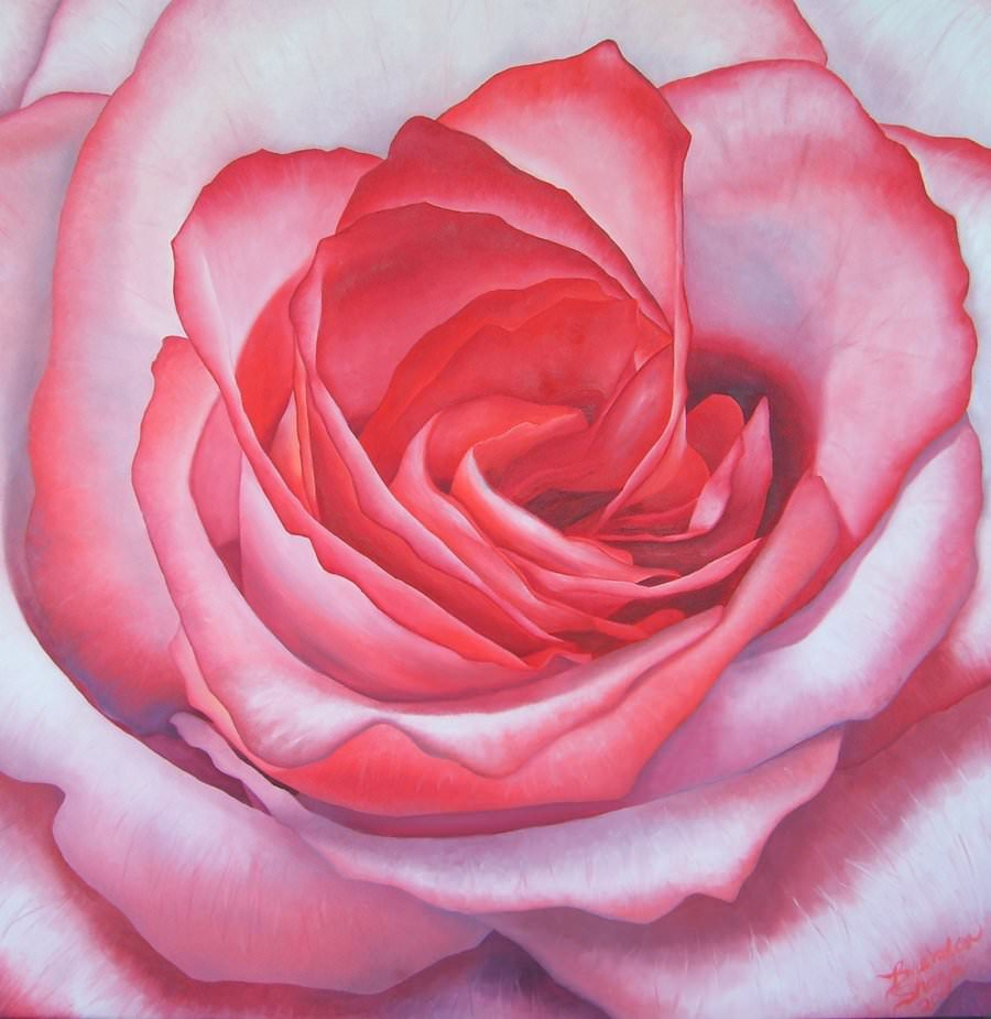 pretty pink flower painting