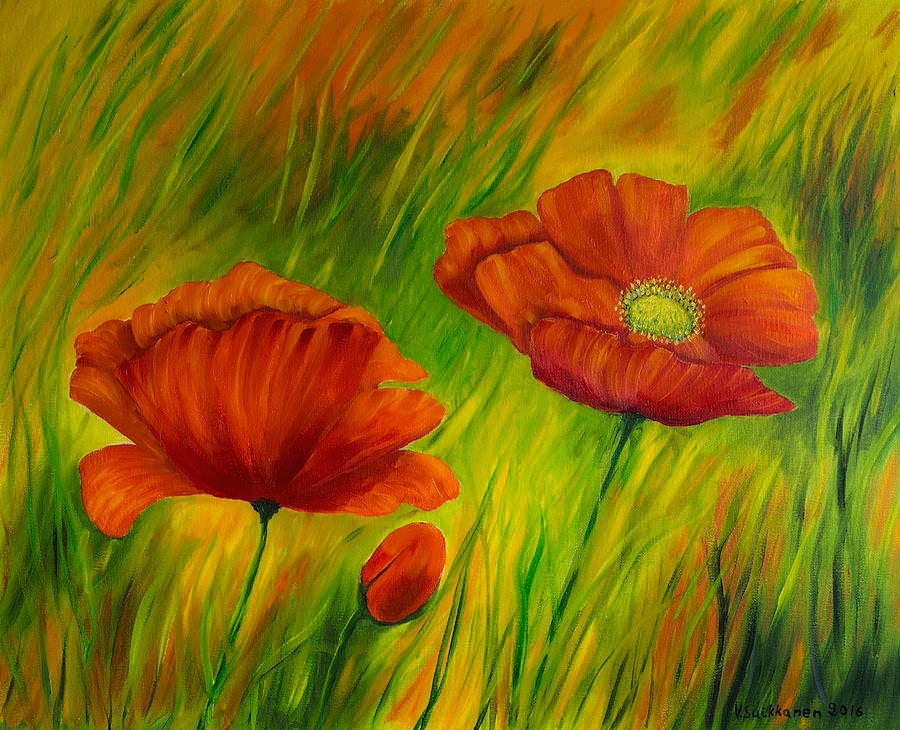 Red Poppies Crazy Painting