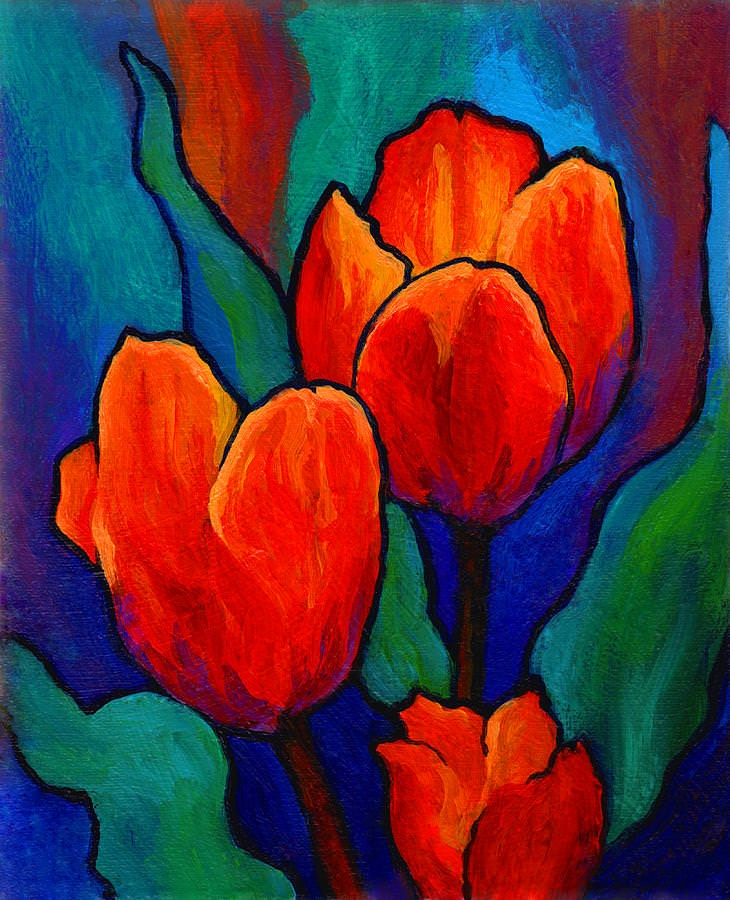 Tulip Trio Awesome Painting