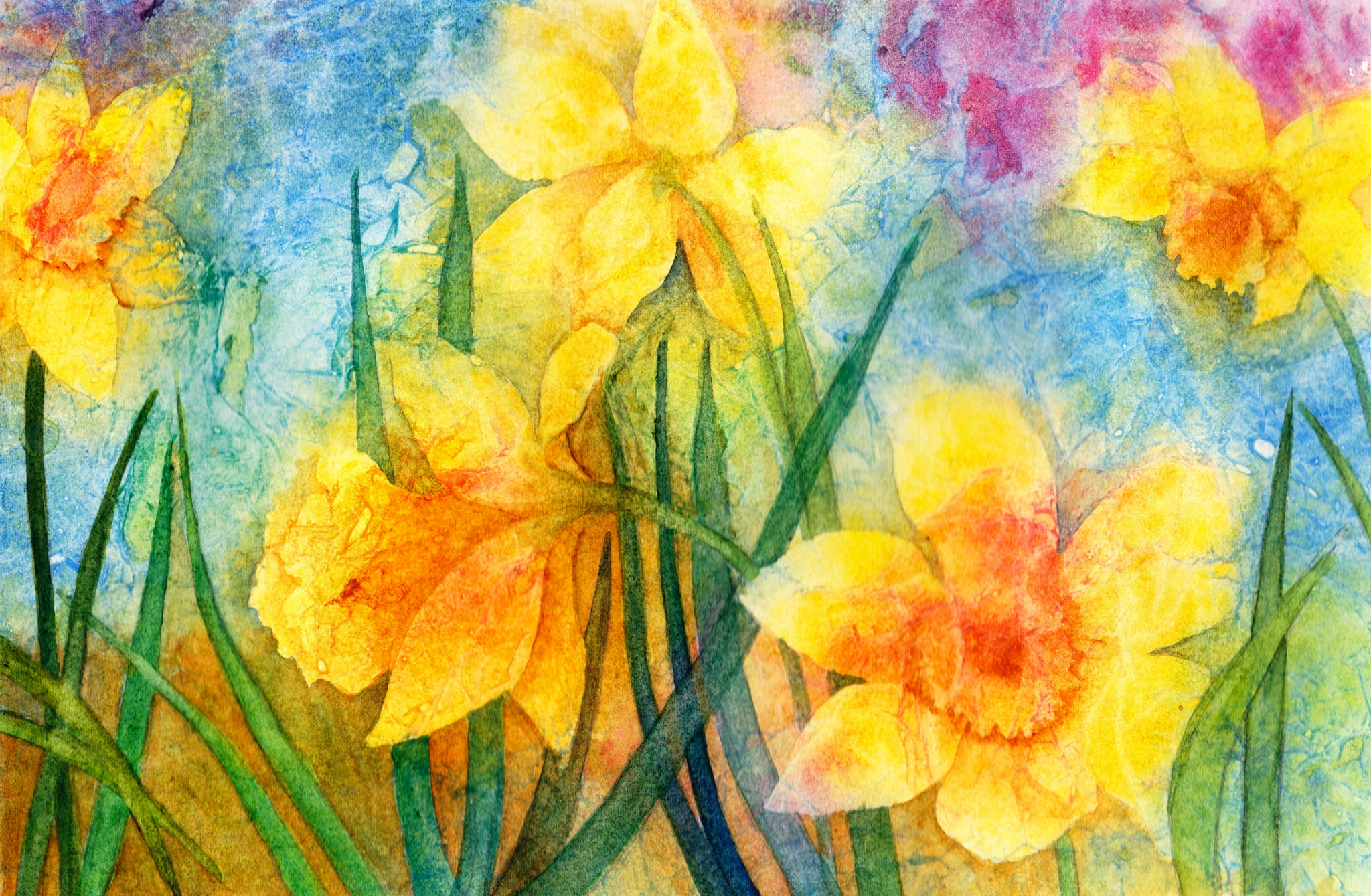 Yellow Daffodils Painting