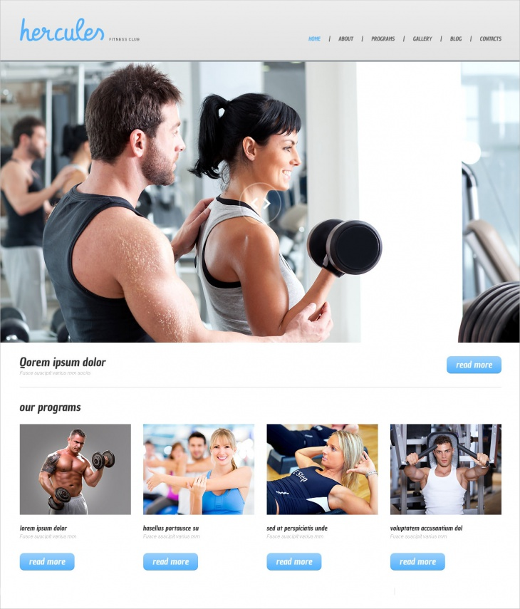 WordPress Fitness Club Theme