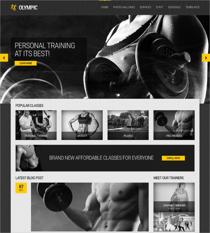 Fitness & Health Theme