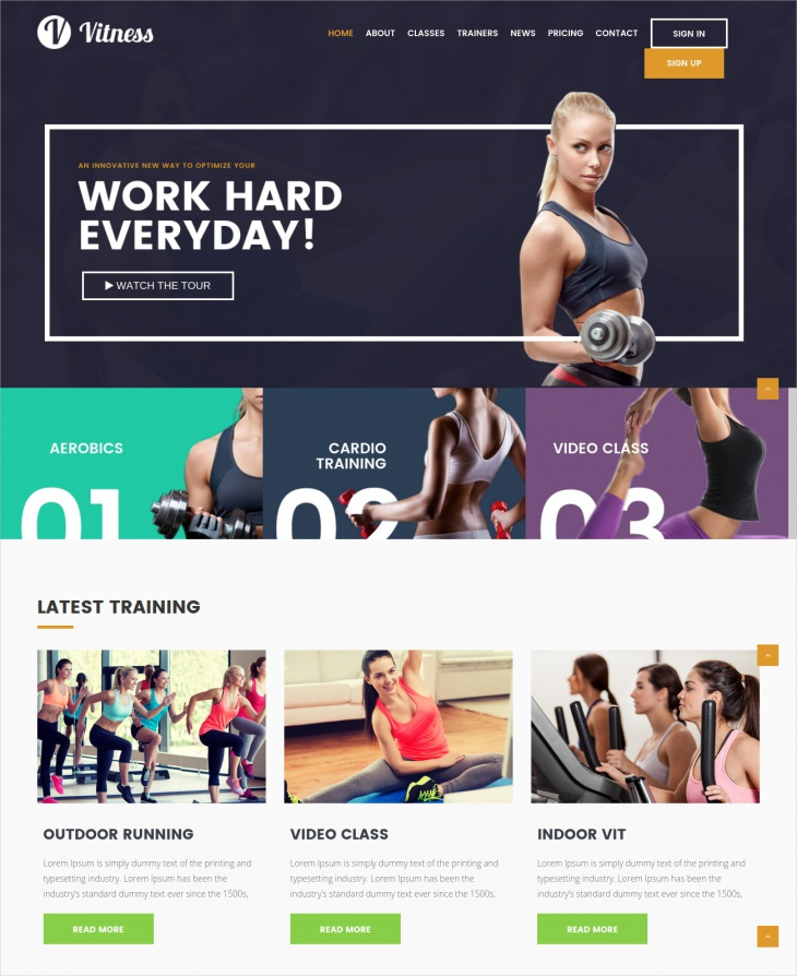 WordPress Fitness Trainer Theme