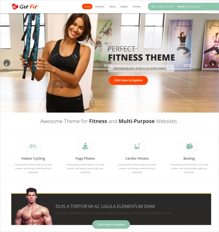 Gym Fitness Multipurpose WordPress Theme