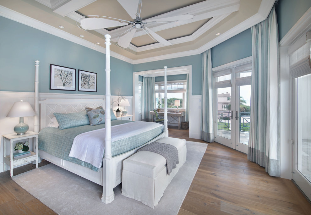 beach style blue bedroom design - Bedroom Design Blue