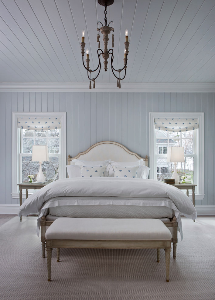 cool pale blue beach style bedroom design